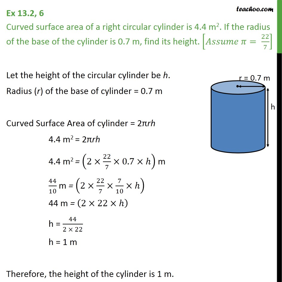 ex 13 2  6 - curved surface area of a right circular