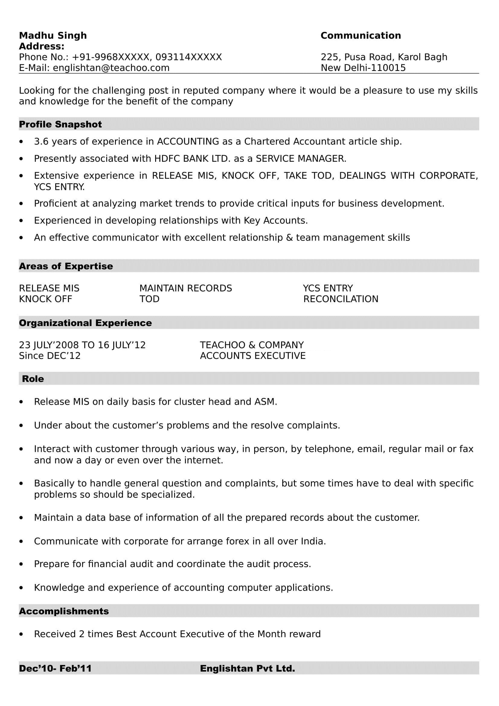 Gentil Download In Word File. Resume Format 1