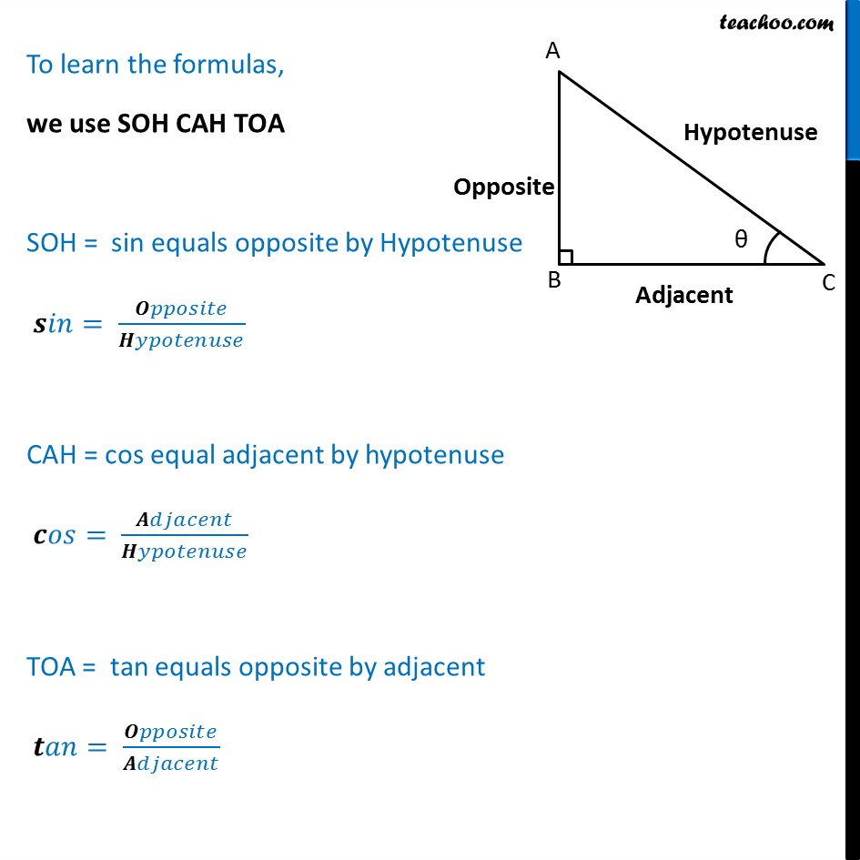 Trigonometric Identities - ANOVA Learning