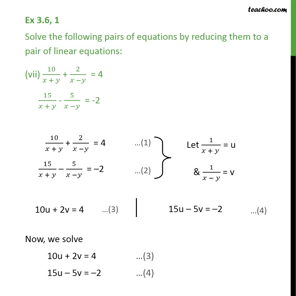 Ex 3.6, 1 (vii) and (viii) - Ex 3.6, 1 